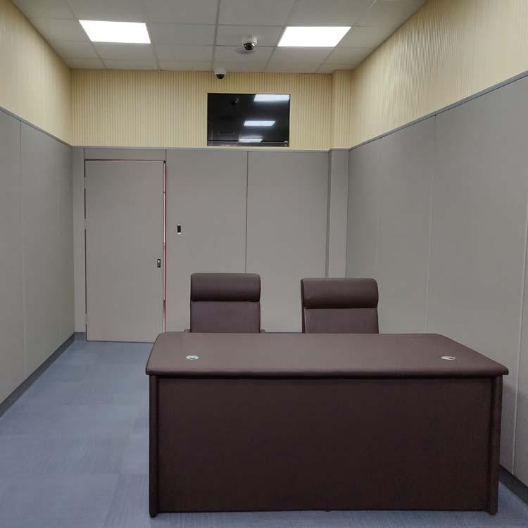 纪委询问室软包防撞设置